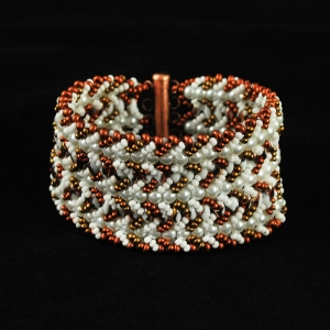 Nortia Bracelet - Pearls and Copper Variation of Nortia I