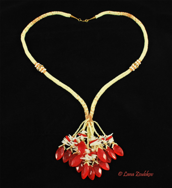 Love Strikes! Red Jade Necklace