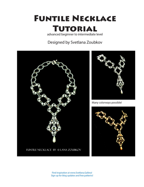 Free Bead Pattern featuring Funtile Necklace Pattern by Svetlana Zoubkov