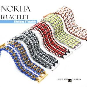 Nortia Bracelet Beading Pattern Tutorial - two designs, two tutorials.