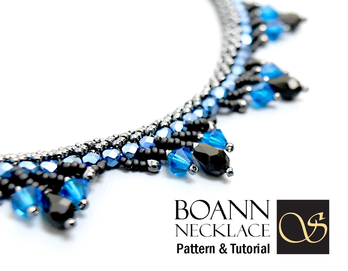 Boann Necklace Beading Pattern Tutorial Double Spiral Stitch